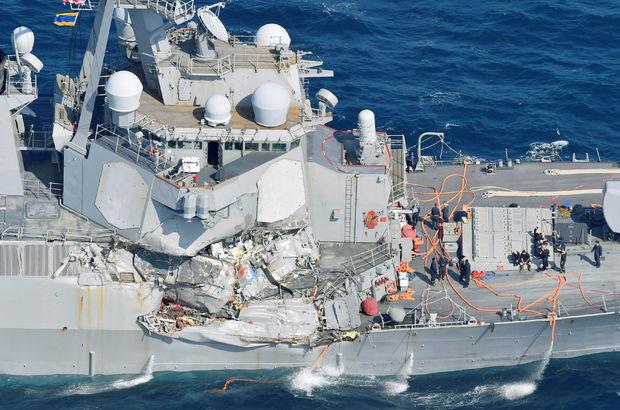 ABD savaş gemisi kaza yaptı: 7 asker kayıp!