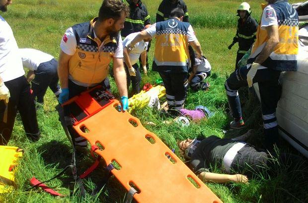 Personel taşıyan minibüs devrildi: 10 yaralı