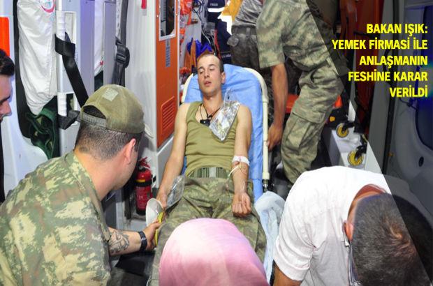 Manisa 1. Piyade Er Eğitim Tugay Komutanlığı'nda 200 asker revirde 300 asker de hastaneye kaldırıldı