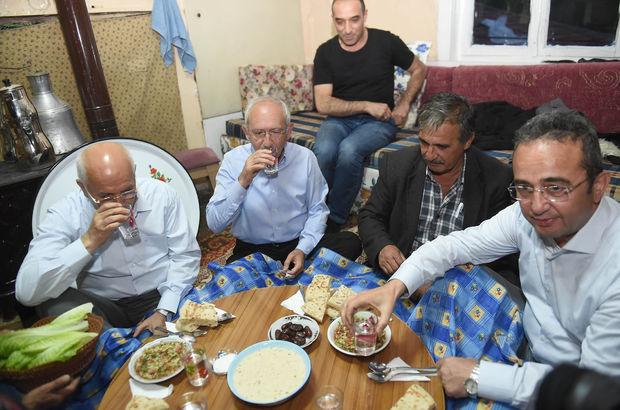 Kemal Kılıçdaroğlu köy evinde iftar yaptı
