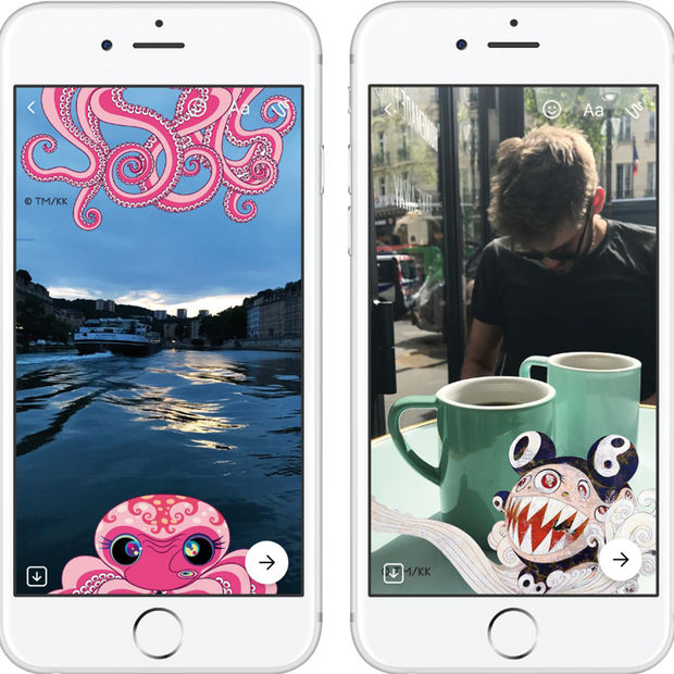 Takashi Murakami'nin eserleri Facebook Messenger'da