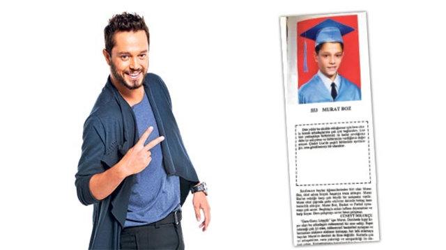 Murat Boz'un 11 yaşındaki mezuniyet yıllığı ortaya çıktı