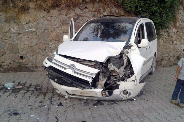 Zırhlı araç ile otomobil kaza yaptı: 3 yaralı