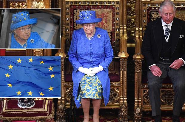 Kraliçe'nin şapkasından Avrupa Birliği çıktı!