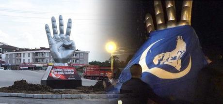 Düzce'deki Rabia heykeline, Ülkü Ocakları'ndan tepki