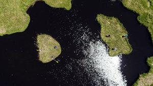 Tortum yüzen adalar ziyaretçilerini bekliyor
