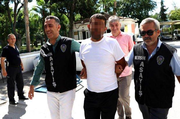 Mersin'de katil zanlısı, kendisini yakalayan polisleri tebrik etti