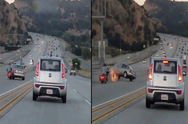 Bir anlık öfke sonrası feci kaza!