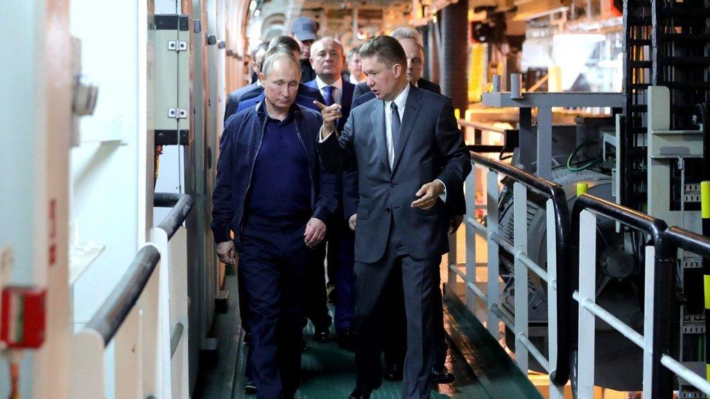 Putin, Türk Akımı'nı denetledi