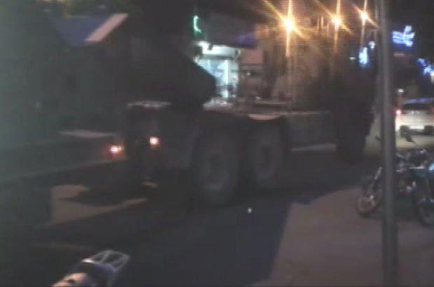 Afrin sınırına obüs topları sevkiyatı yapıldı