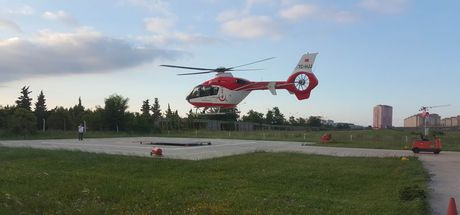 Yeni doğmuş bebek ambulans helikopter ile hastaneye sevk edildi