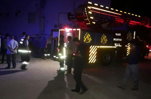 Elazığ'da düğün salonunda yangın çıktı, 14 kişi dumandan etkilendi