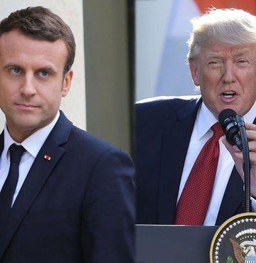 Trump Macron'un davetini kabul etti