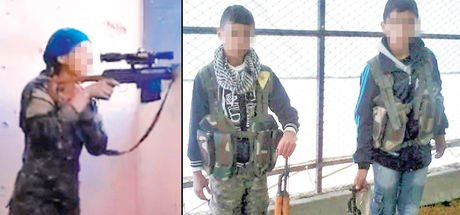 YPG, Rakka'da çocukları sniper olarak kullanıyor!