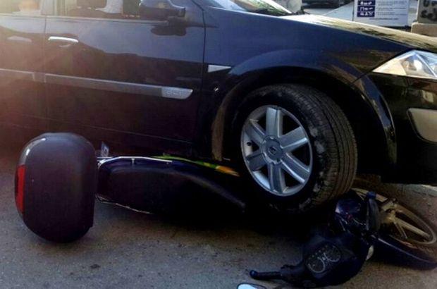 Manisa'da sinirlenen sürücü aracıyla motosikleti ezdi
