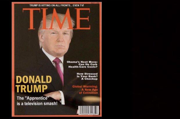 Donald Trump'ın golf kulüplerine sahte TIME kapağı!