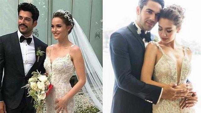 Burak Özçivit ile Fahriye Evcen evlendi, sosyal medya bu benzerlikleri konuştu