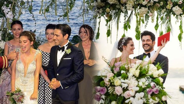Burak Özçivit ile evlenen Fahriye Evcen - Neslihan Atagül gelinliği arasındaki benzerlik!