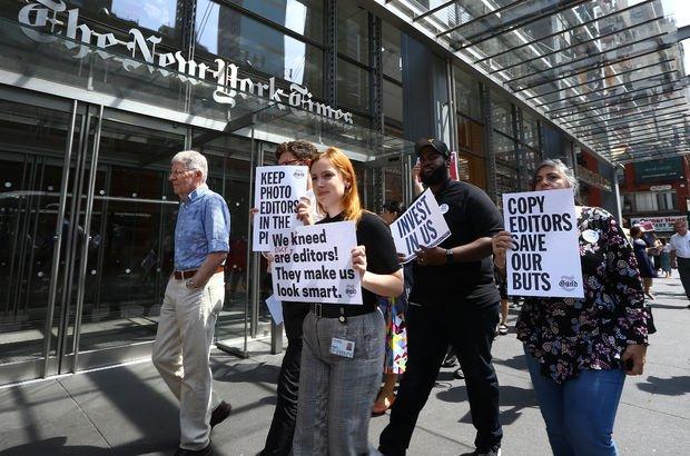 New York Times çalışanlarından 'geçici iş durdurma' kararı!