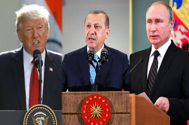 Cumhurbaşkanı Recep Tayyip Erdoğan, ABD Başkanı Trump ve Rusya lideri Putin ile görüştü