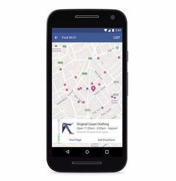 Facebook tan ücretsiz Wi-Fi