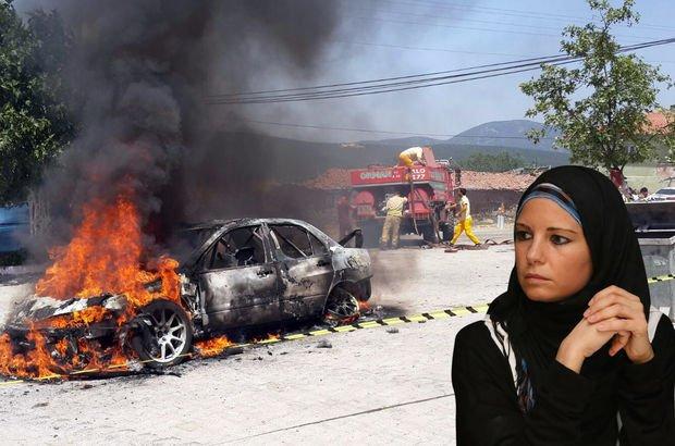 Rallici Burcu Çetinkaya Bucak'ın aracı yandı