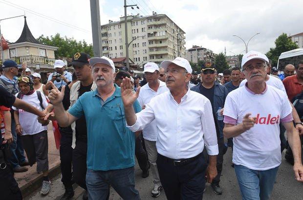 Kemal Kılıçdaroğlu'nun 'Adalet Yürüyüşü'nün 20. günü