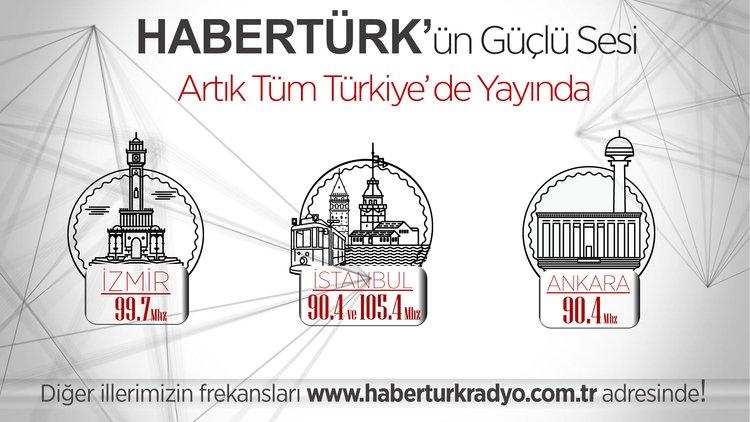 Habertürk Radro artık tüm Türkiye'de yayında...