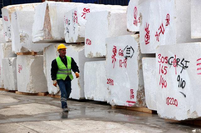 Antalya Limanı'nda 2 milyon tonun üzerinde mermer ihracatı gerçekleşti