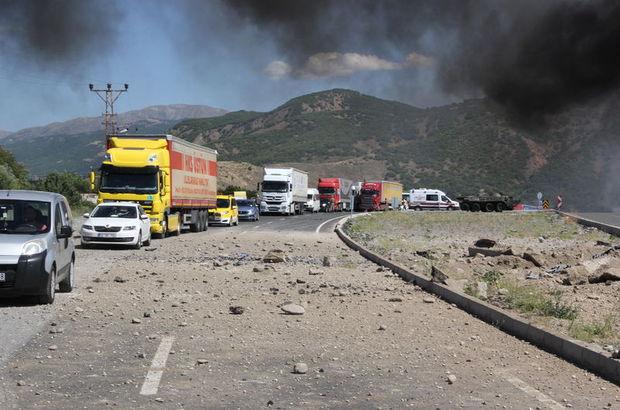 Erzincan'da askeri aracın geçişi sırasında patlama! 3 asker yaralı