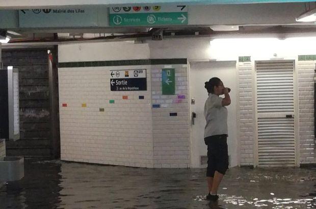 Paris metrosu sular altında kaldı