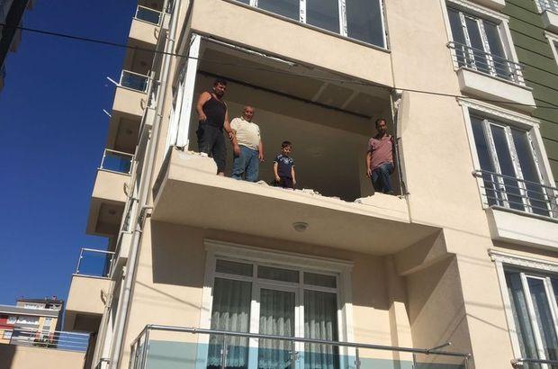 Üzerine binmeden çalıştırınca 3'üncü kattan düşürdü!