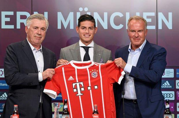Bayern Münih, James Rodriguez'i basına tanıttı