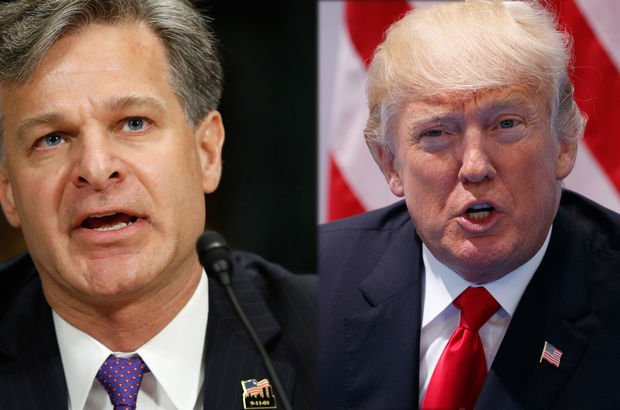 Donald Trump Christopher Wray FBI