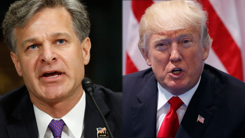 Donald Trump Christopher Wray FBI