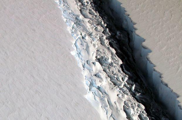 Büyük şok: 1 trilyon tonluk buzdağının kırılan yüzü