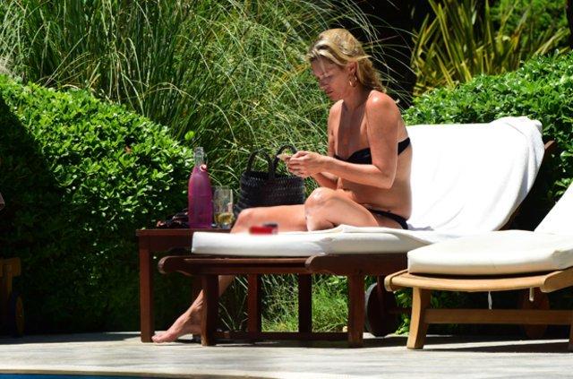 Kate Moss yeniden Bodrum'da