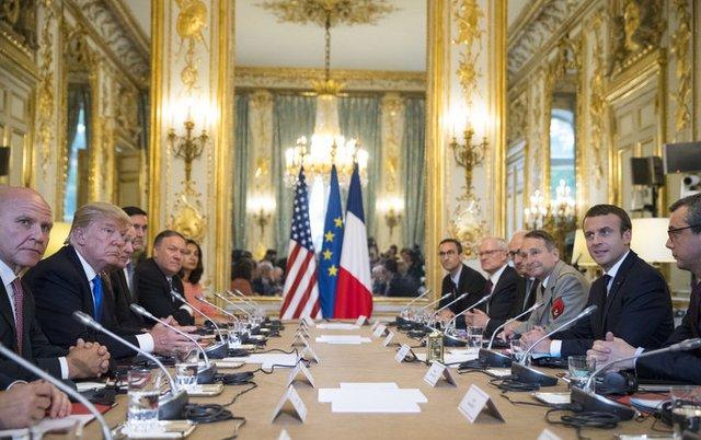 Emmanuel Macron ile Donald Trump biraraya geldi