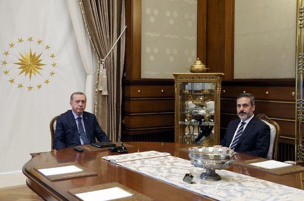 Cumhurbaşkanı Erdoğan, MİT Müsteşarı Fidan ile bir araya geldi
