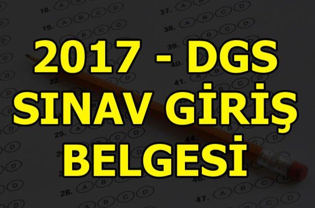 DGS sınav yerleri sorgula - ÖSYM 2017