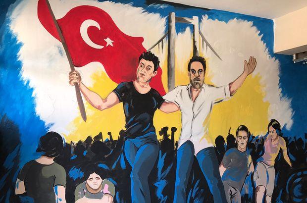 15 Temmuz darbe girişimi, okulların duvarlarında yaşatılıyor