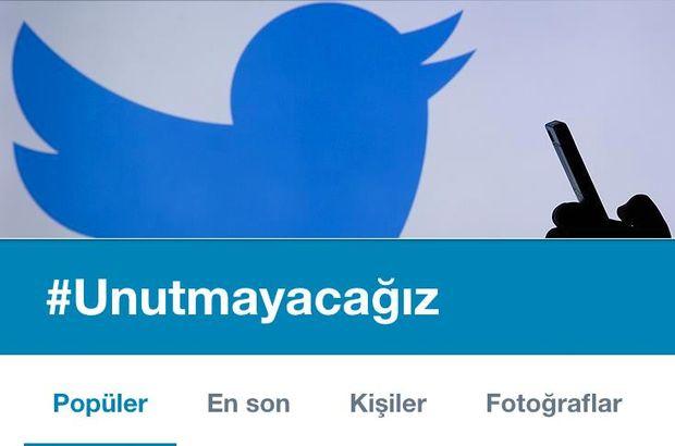 #Unutmayacağız etiketi Twitter'da dünya gündeminde