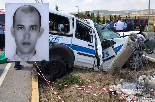Uşak'ta polis aracı kaza yaptı: 1 şehit