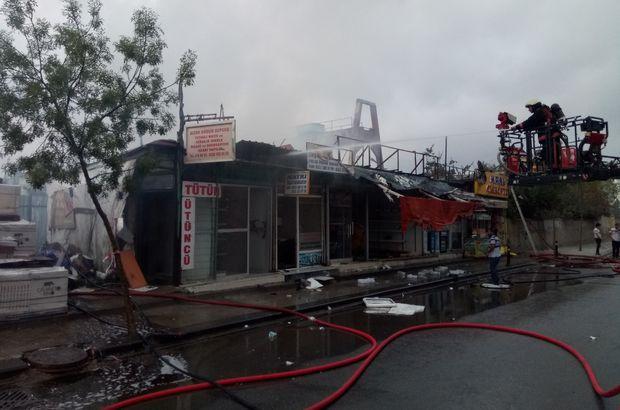 İstanbul'da bir yapı markette yangın çıktı!