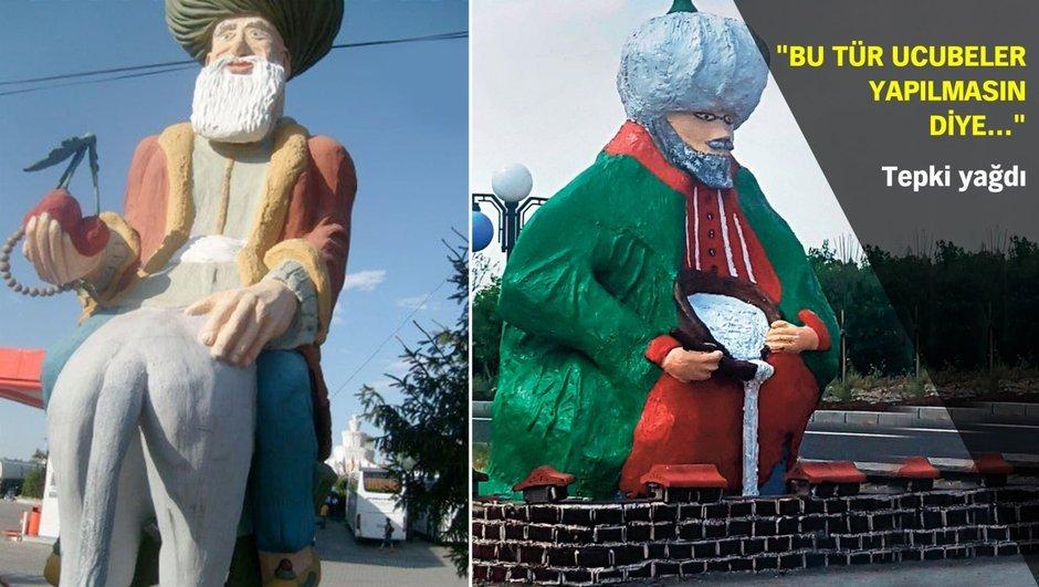 Konya  Nasreddin Hoca heykelleri
