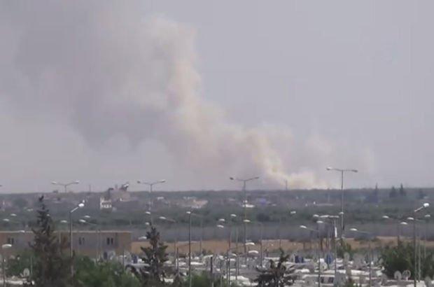 Azez'deki terör örgütü PYD hedefleri bombalanıyor