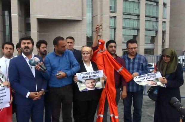 Doğan Medya Center'ı işgal davasında FETÖ'cülere tulumlu protesto