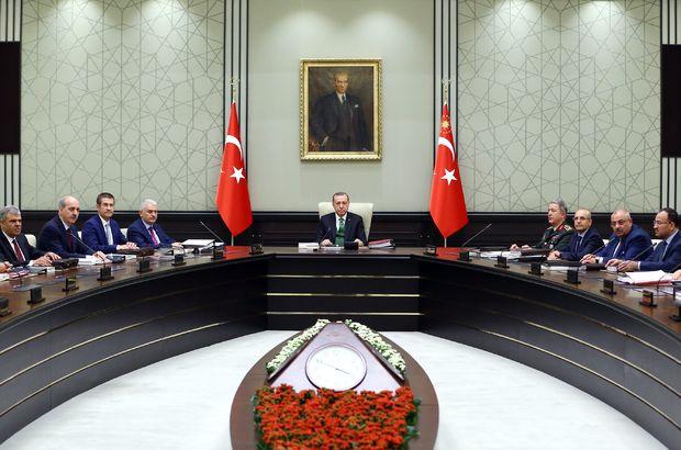 Cumhurbaşkanı Erdoğan başkanlığında toplanan MGK sona erdi