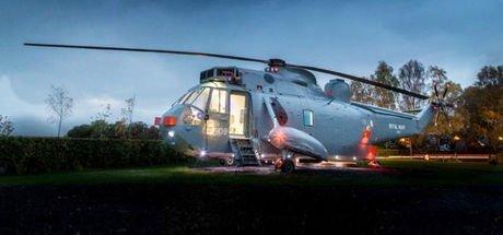 Eski helikopteri otele çevirdi