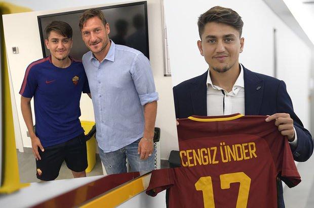 Cengiz Ünder, Totti ile buluştu
